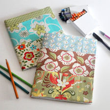 Fabric Covered Note book tutorial Jacquelynne Steves