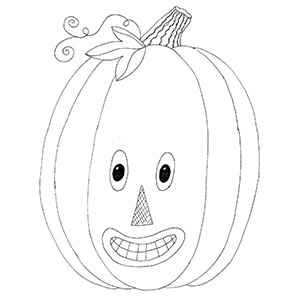 Friendly Jack O Lantern Embroidery Pattern (and a yummy Apple Cake!)