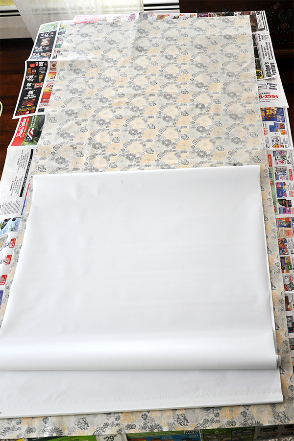 Fabric Covered Vinyl Window Roller Shade Tutorial- Jacquelynne Steves