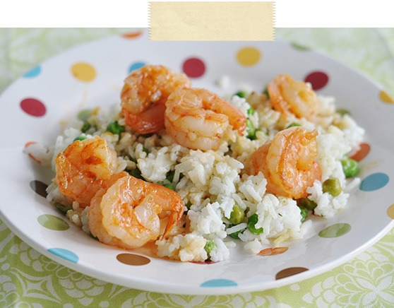 Coconut Rice with Spicy Shrimp- Jacquelynne Steves