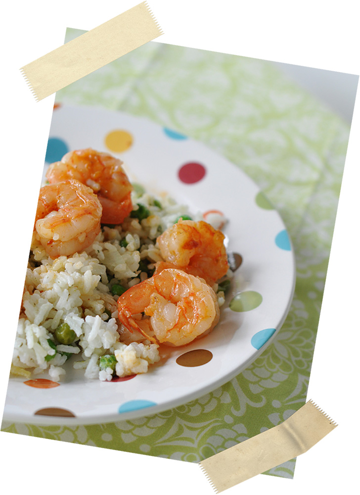 Coconut Rice with Spicy Shrimp - Jacquelynne Steves