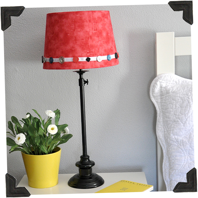 No-Sew Fabric Lampshade Makeover
