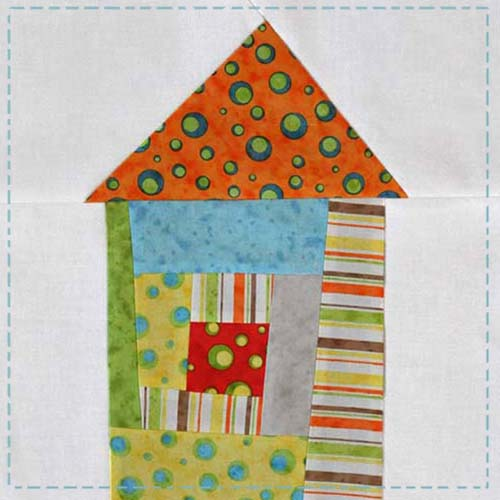 Wonky House Quilt Block Tutorial
