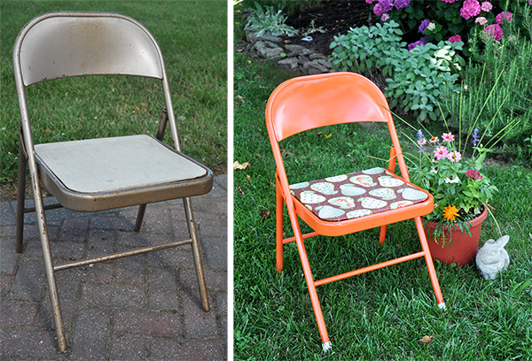 Merveilleux Fabulous Folding Chair Makeover Painting Metal Folding Chair