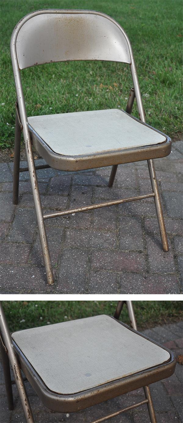 metal folding chair spray paint