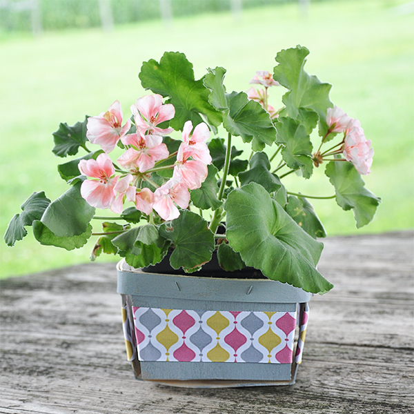 Get Organized with Pretty Decorated Berry Baskets