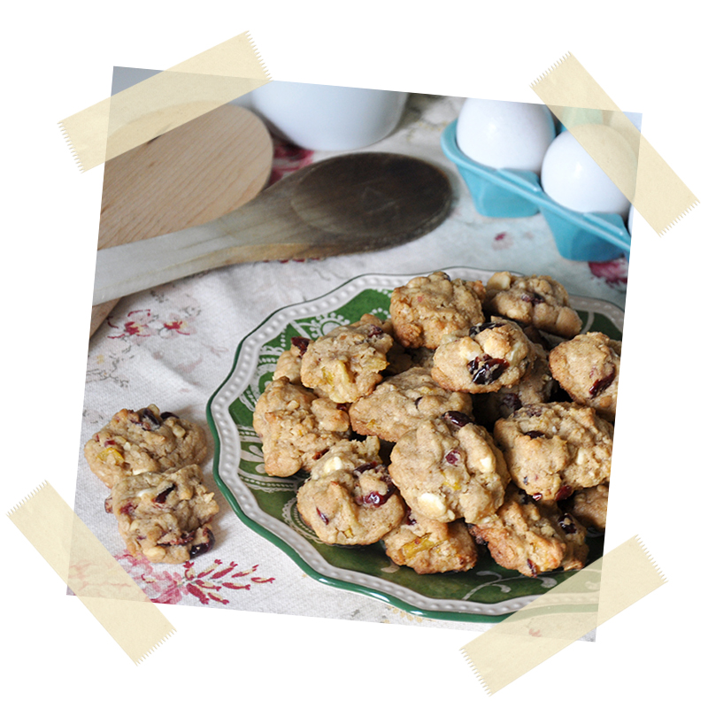 Super-Duper Chunky Pear, Cranberry & White Chocolate Cookies
