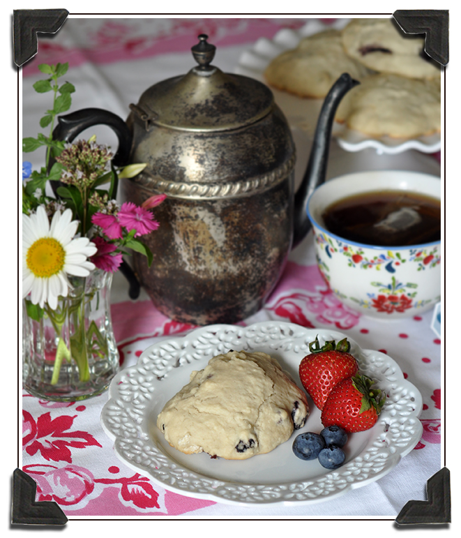 blueberry tea scones honey butter recipe