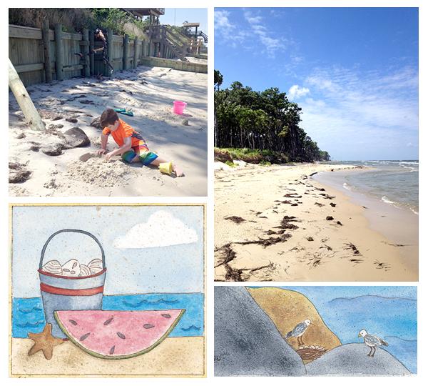 Beach collage art photos