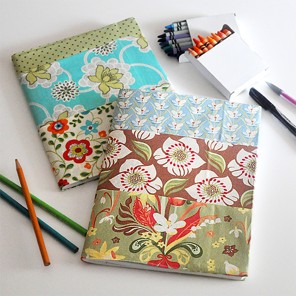 How To Make A Book Cover Out Of Fabric : Fabric covered notebooks and journals tutorial