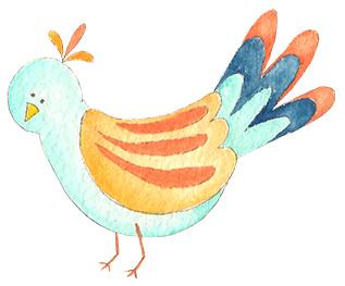 happy art bird Jacquelynne Steves