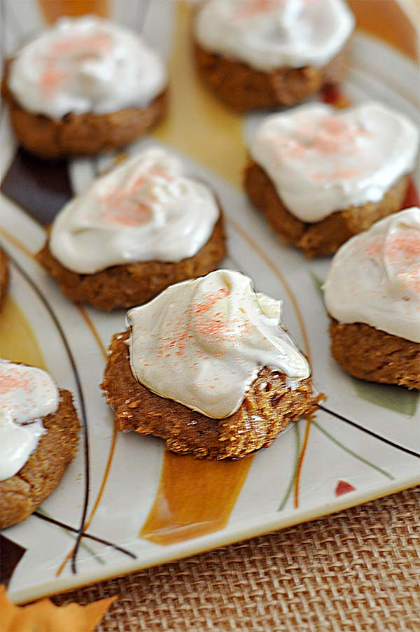 Pumpkin Cookies with Maple Cream Cheese Frosting