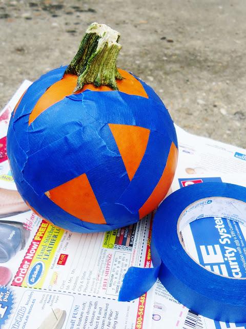 spray paint pumpkin autumn fall