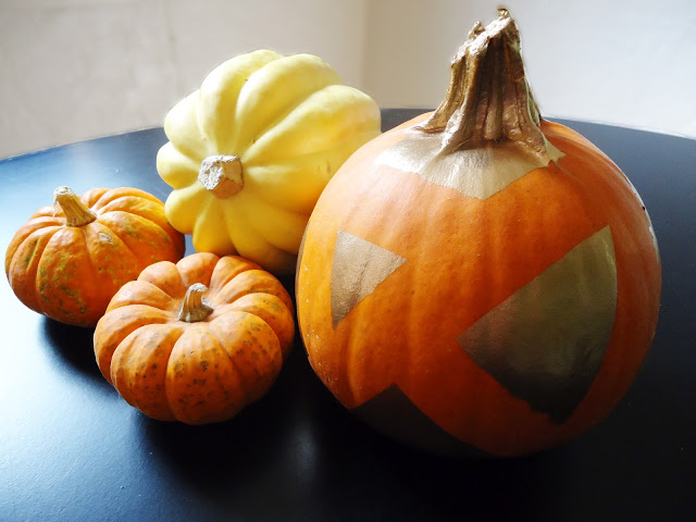 Spray Painted Pumpkin Autumn Decor