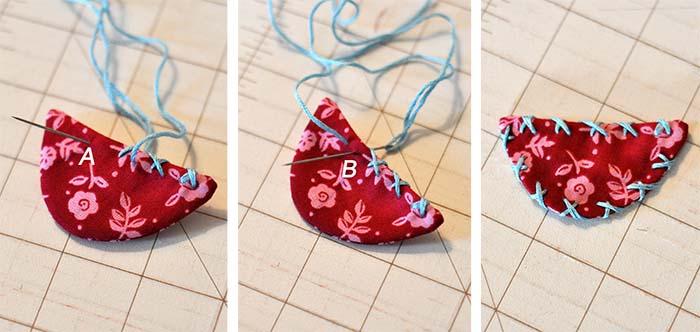 Christmas Patchwork Bird Ornament | JacquelynneSteves.com