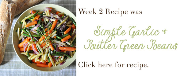 simple garlic and butter green beans recipe