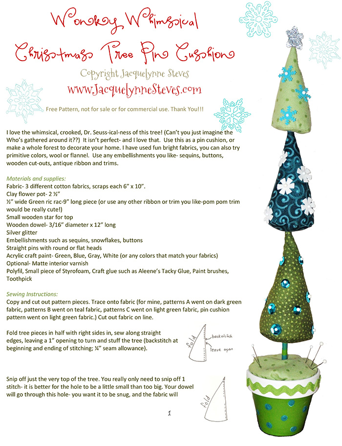 Wonky Whimsical Christmas Tree Project