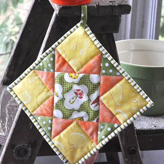 Quilted Potholder Tutorial- Jacquelynne Steves