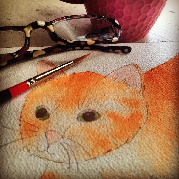 kitten art illustration jacquelynne steves