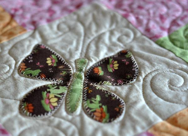 Butterfly quilt pattern applique Jacquelynne Steves