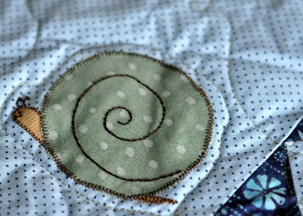 snail quilt, bug quilt, Boys Quilt pattern, Jacquelynne Steves, Davids Playmates
