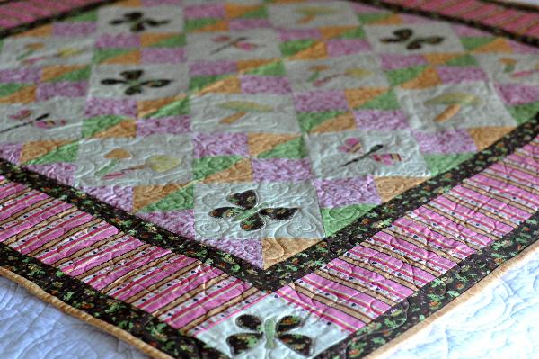 Flutterby Butterfly Quilt applique pattern Jacquelynne Steves