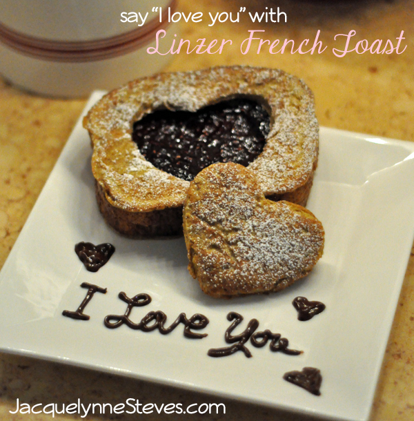 Linzer French Toast for Valentine's Day