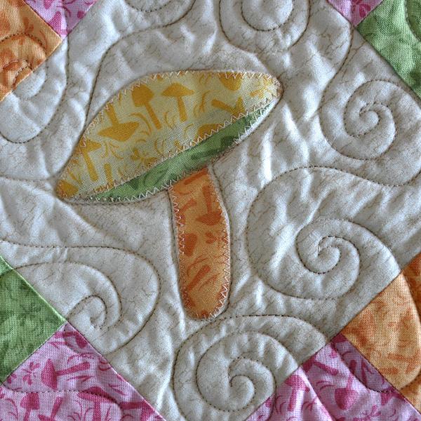 Mushroom quilt pattern applique Jacquelynne Steves