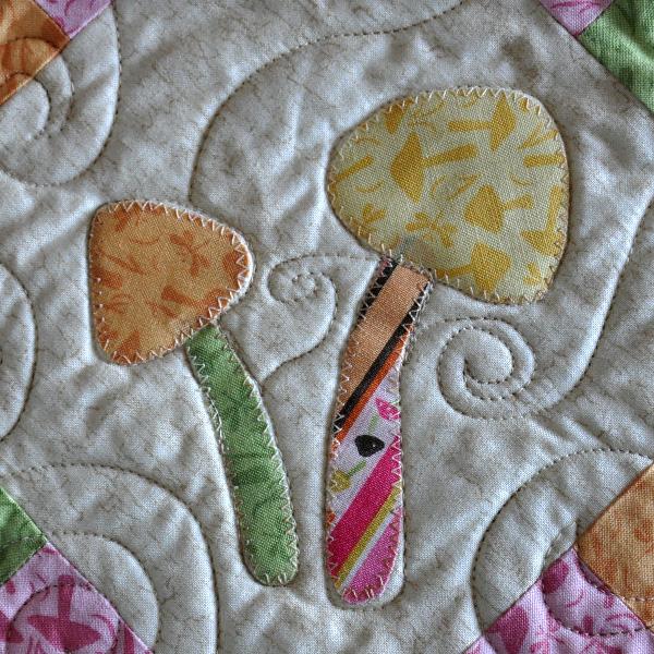 Mushroom applique quilt pattern Jacquelynne Steves