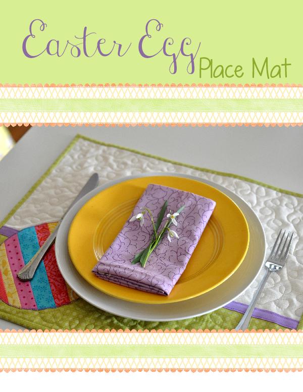 Easter Egg Place Mat Jacquelynne Steves