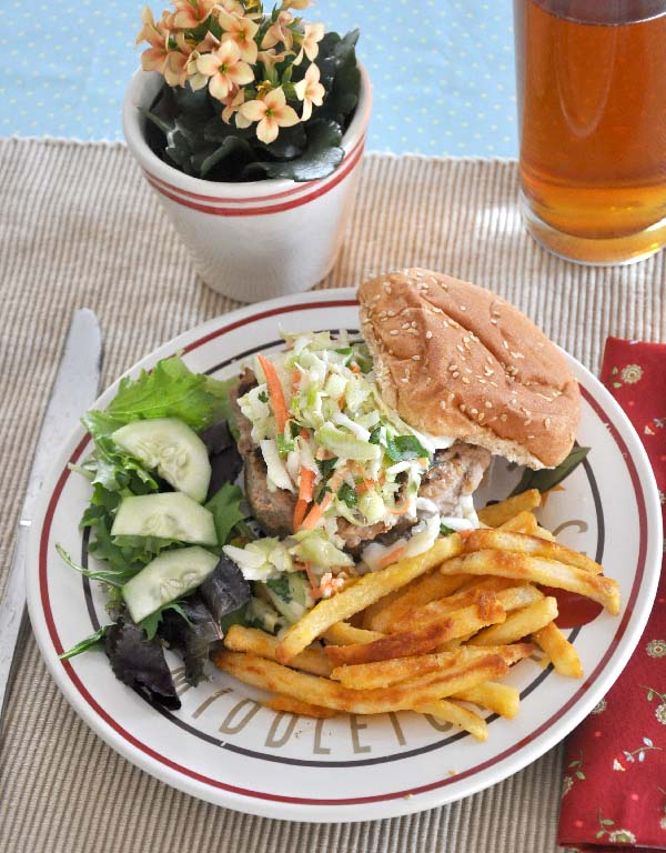 Asian Turkey Burger with Slaw Recipe- Jacquelynne Steves