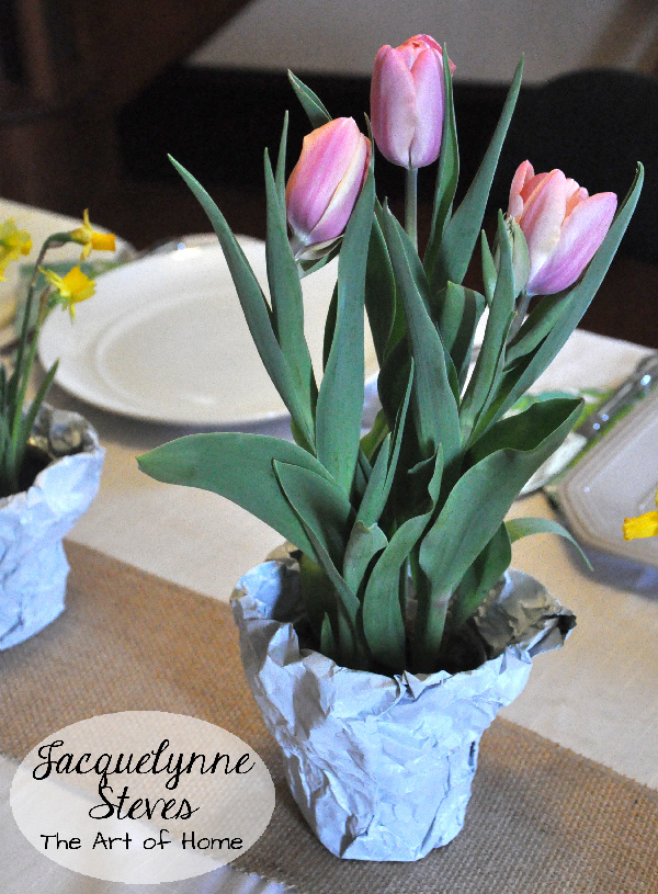 Easter Tulip Table Decoration- Jacquelynne Steves