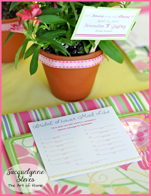 Game for Bridal Shower- Jacquelynne Steves
