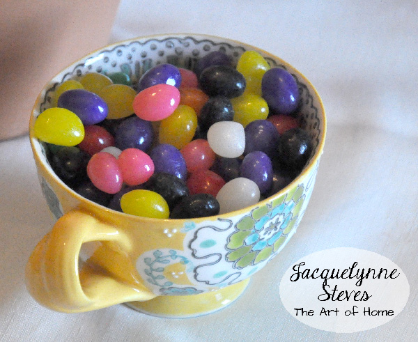 Jelly Beans in Tea Cup- Jacquelynne Steves