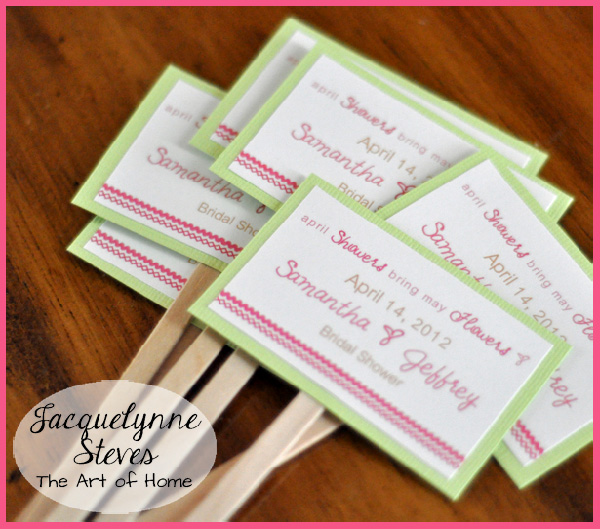 Simple Bridal Shower Favor- Jacquelynne Steves