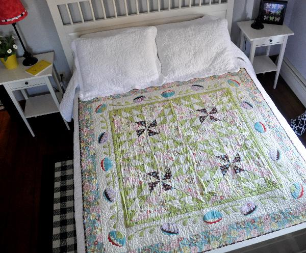 Double Pinwheel Quilt, Spring Fling, Jacquelynne Steves