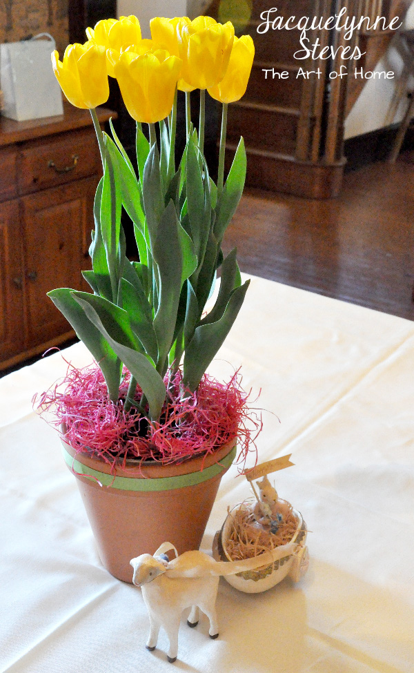 Tulip Centerpiece for Easter- Jacquelynne Steves