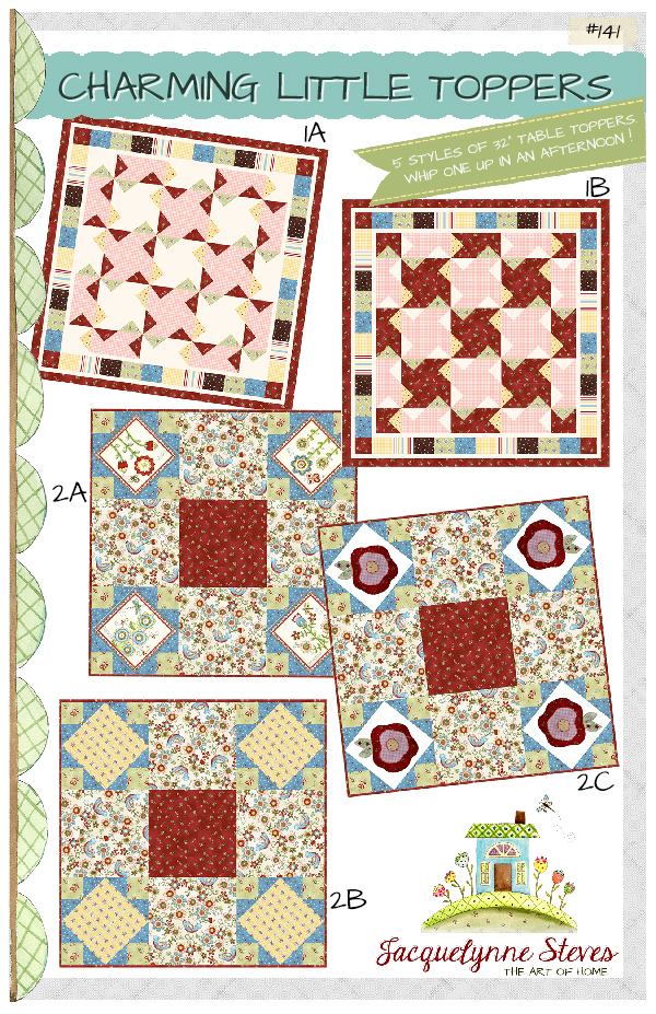 Charming Little Table Toppers Quilt Pattern- Jacquelynne Steves