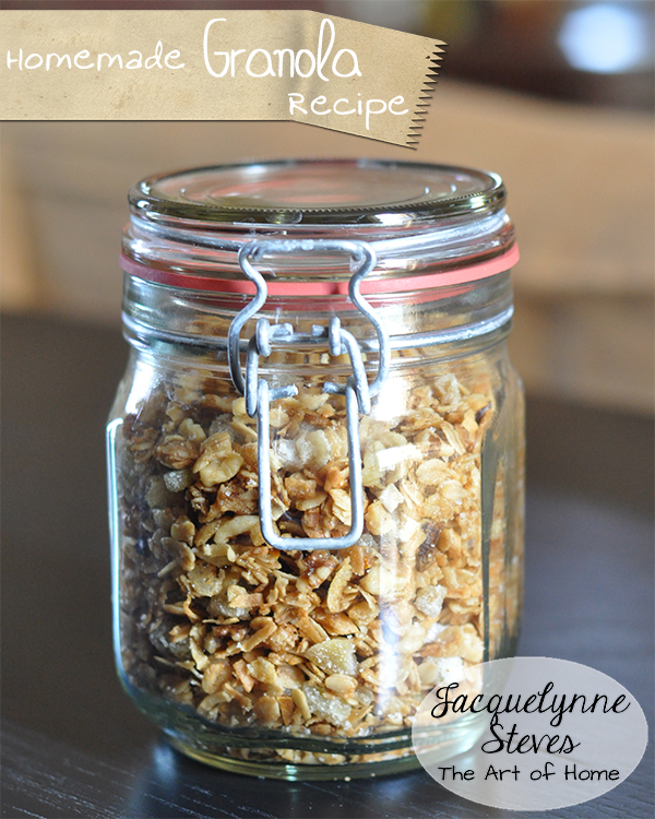 Granola Recipe-  Jacquelynne Steves