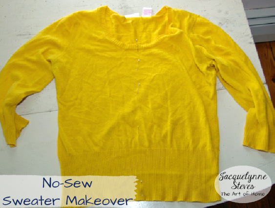 No Sew Sweater Makeover- Jacquelynne Steves 1