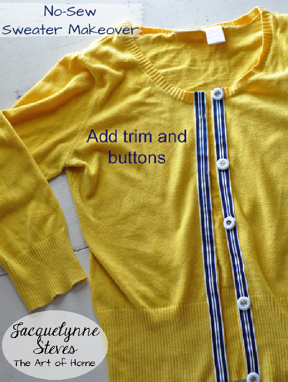 No Sew Sweater Makeover- Jacquelynne Steves 5