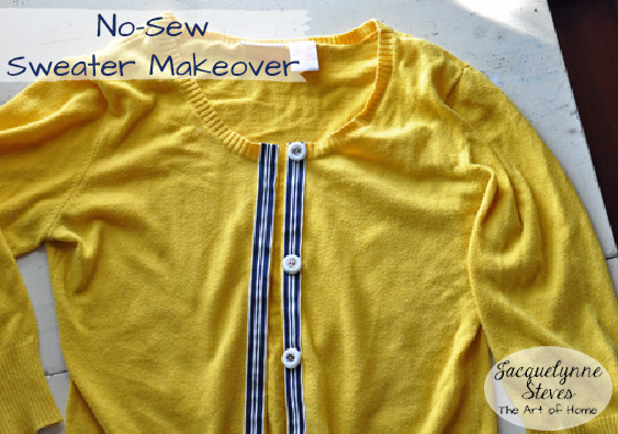 No Sew Sweater Makeover