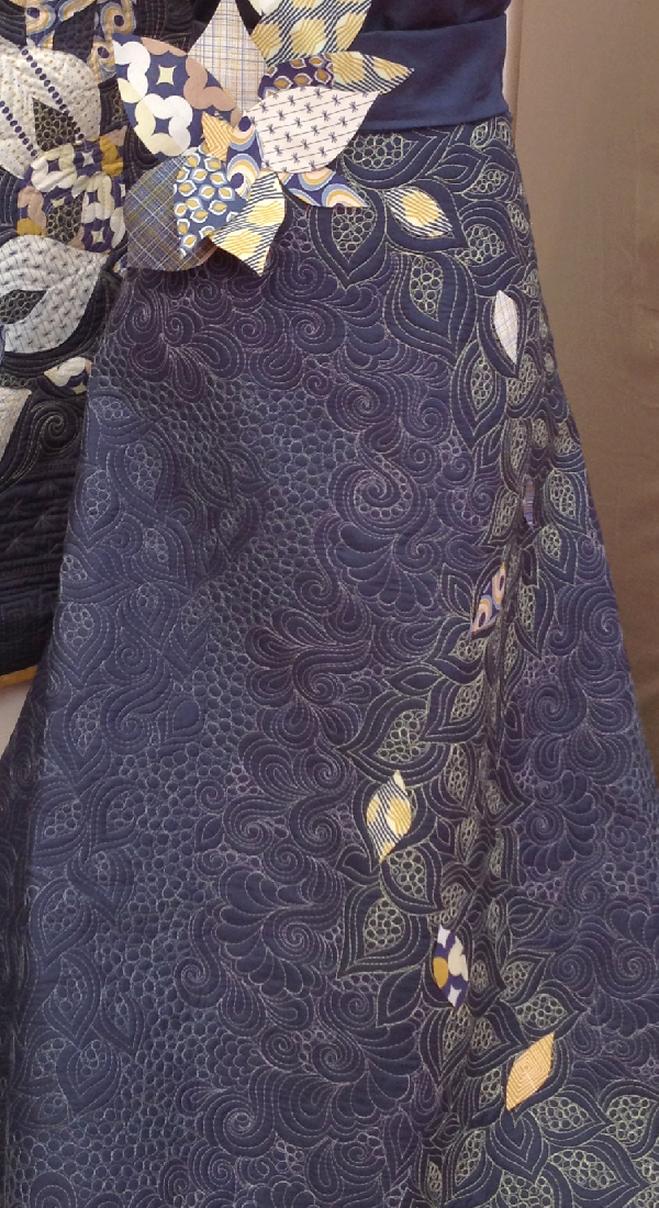 Quilt Market Spring 2014 Pittsburgh- Jacquelynne Steves- Angela Walters Peacock Gown Close Up