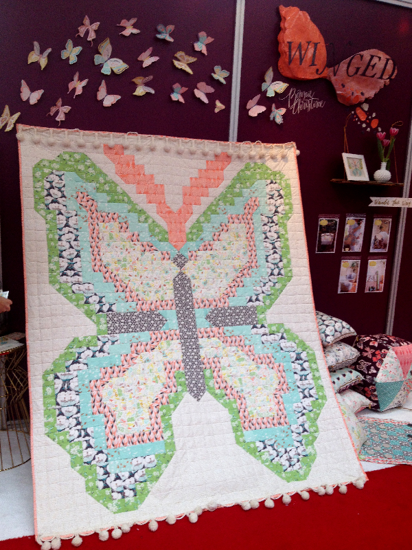 Quilt Market Spring 2014 Pittsburgh- Jacquelynne Steves- Bonnie Christine Butterfly Quilt Art Gallery Fabrics