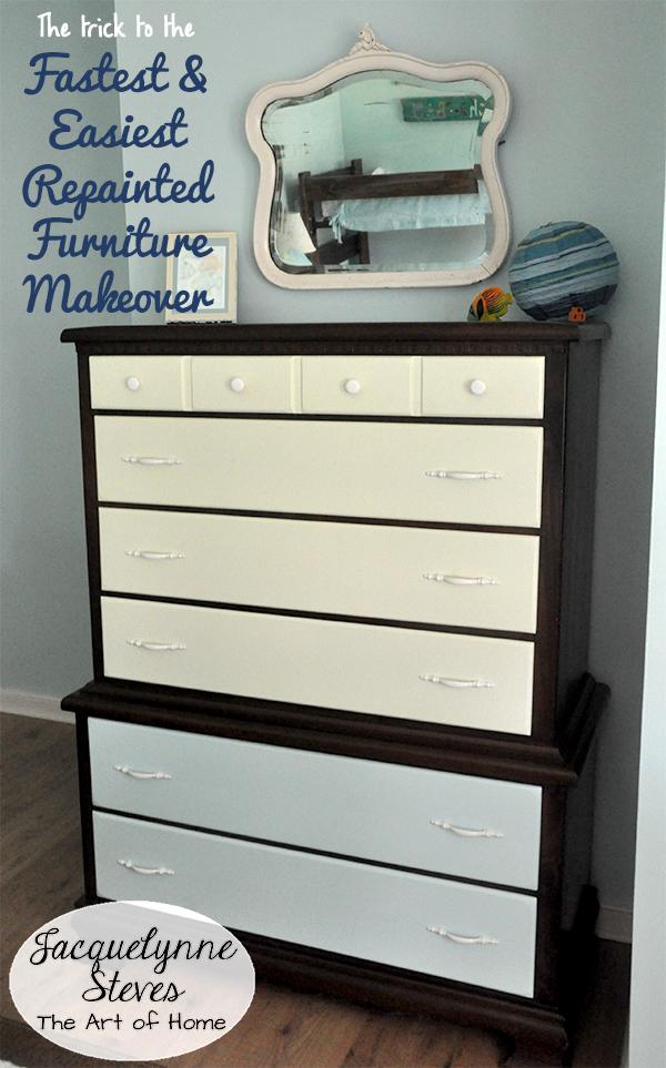 Easy Furniture Makeover- Jacquelynne Steves
