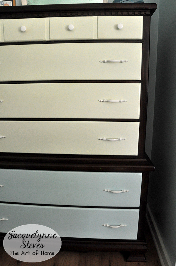 Easy Furniture Makeover closeup- Jacquelynne Steves