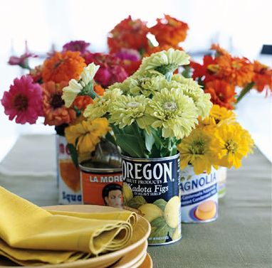 Flowers in Tin Can