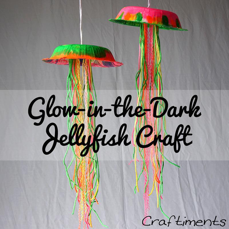 Kids Glow in the Dark Jellyfish Craft 1