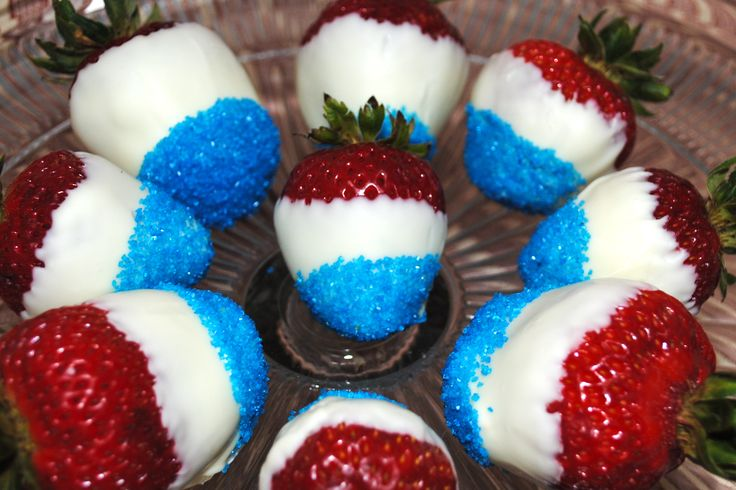Red White & Blue Strawberries