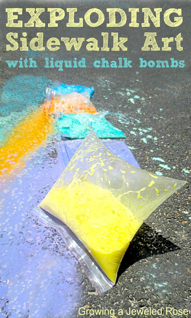 explosion chalk art